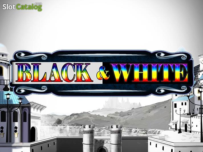 Black and White slot logo
