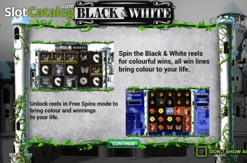Start Screen. Black and White (Jade Rabbit Studios) (Video Slot from Jade Rabbit Studios)