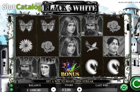 Reel Screen. Black and White (Jade Rabbit Studios) (Video Slot from Jade Rabbit Studios)