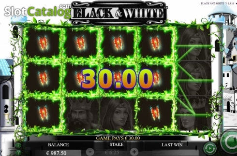 Win Screen 1. Black and White (Jade Rabbit Studios) (Video Slot from Jade Rabbit Studios)
