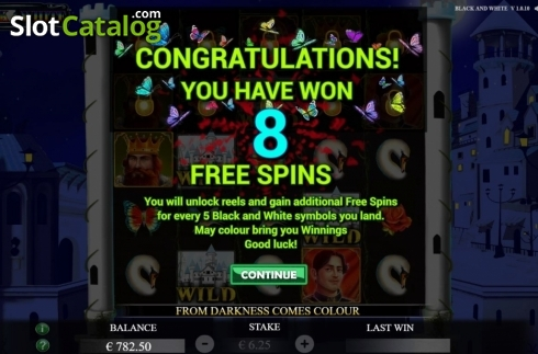 Free Spins 1. Black and White (Jade Rabbit Studios) (Video Slot from Jade Rabbit Studios)