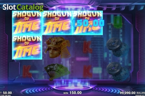 Skjerm9. Shogun of Time (Video Slot fra JustForTheWin)