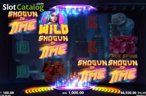 Skjerm11. Shogun of Time (Video Slot fra JustForTheWin)
