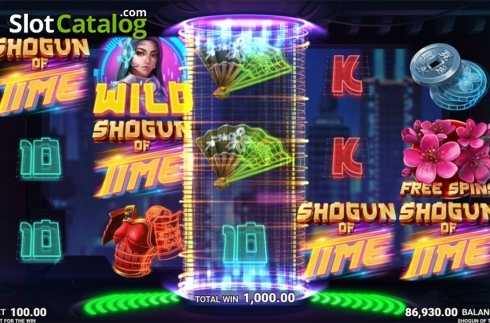 Skjerm12. Shogun of Time (Video Slot fra JustForTheWin)