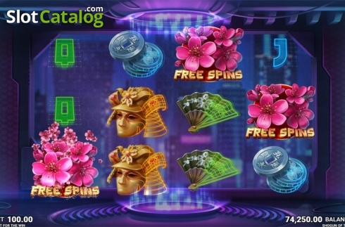 Skjerm16. Shogun of Time (Video Slot fra JustForTheWin)