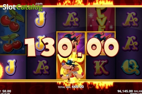 Skärm9. Rockabilly Wolves (Video Slot från JustForTheWin)