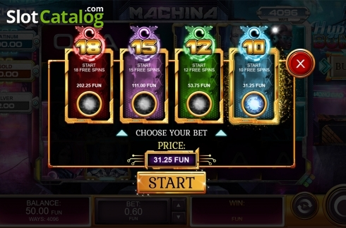 Hyper Bonus screen. Machina (Video Slot from Kalamba Games)