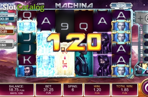 Free spins screen 3. Machina (Video Slot from Kalamba Games)
