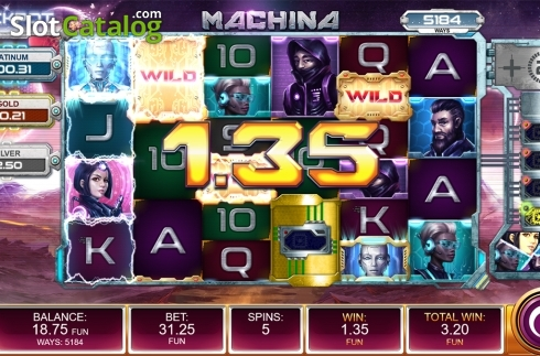 Free spins screen 4. Machina (Video Slot from Kalamba Games)