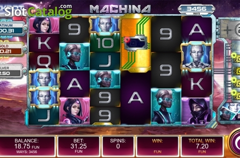 Free spins screen 5. Machina (Video Slot from Kalamba Games)