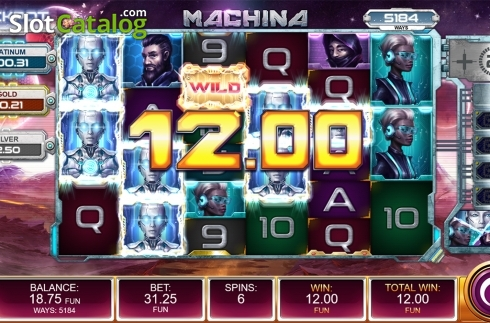 Free spins screen 7. Machina (Video Slot from Kalamba Games)