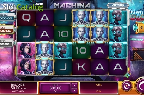 Reels screen. Machina (Video Slot from Kalamba Games)