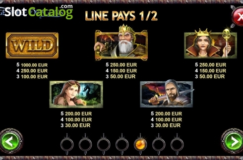 Paytable 1. Age of Ice Dragons (Video Slot from Kalamba Games)
