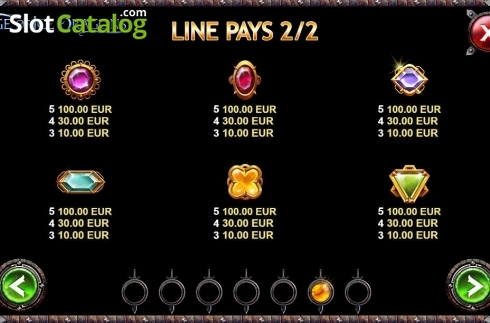 Paytable 2. Age of Ice Dragons (Video Slot from Kalamba Games)