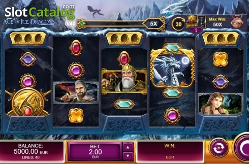 Reel Screen. Age of Ice Dragons (Video Slot from Kalamba Games)