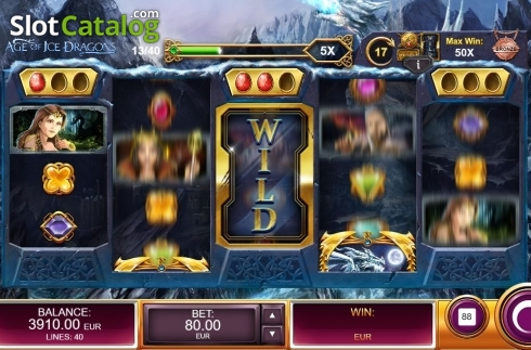 Expanding Wild. Age of Ice Dragons (Video Slot from Kalamba Games)