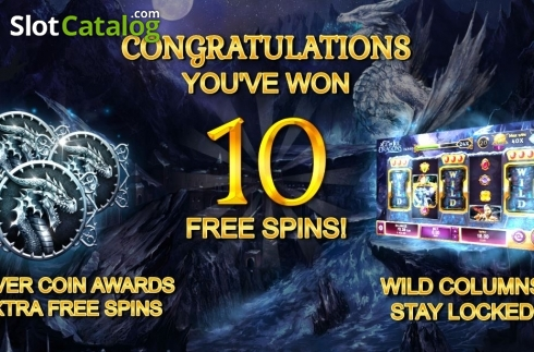 Free Spins Triggered. Age of Ice Dragons (Video Slot from Kalamba Games)