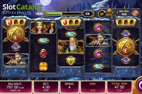 Free Spins Reels. Age of Ice Dragons (Video Slot from Kalamba Games)