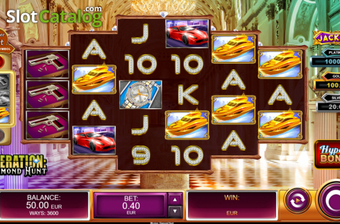 Reel Screen 1. Operation Diamond Hunt (Video Slot from Kalamba Games)
