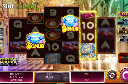 Reel Screen 2. Operation Diamond Hunt (Video Slot from Kalamba Games)