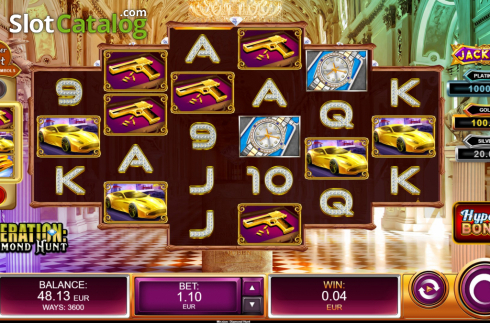 Win Screen. Operation Diamond Hunt (Video Slot from Kalamba Games)