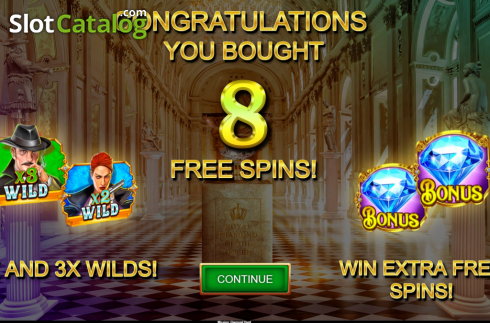 Free Spins 2. Operation Diamond Hunt (Video Slot from Kalamba Games)