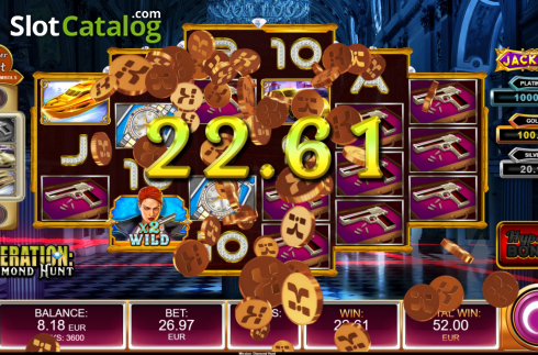Free Spins 3. Operation Diamond Hunt (Video Slot from Kalamba Games)