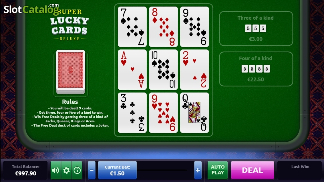 Spiele Super Lucky Cards Deluxe - Video Slots Online