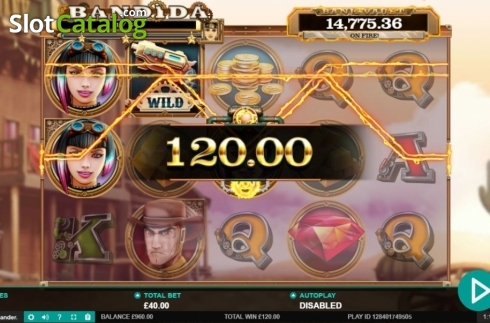 Win Screen. Bandida (Video Slot from Leander Games)