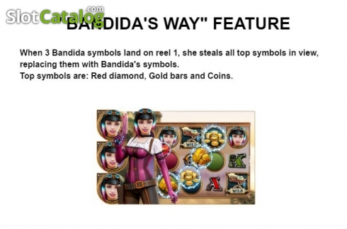 Feature 1. Bandida (Video Slot from Leander Games)