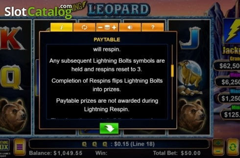 Features. Lightning Leopard (Video Slot from Lightning Box)