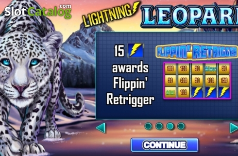 Start Screen. Lightning Leopard (Video Slot from Lightning Box)
