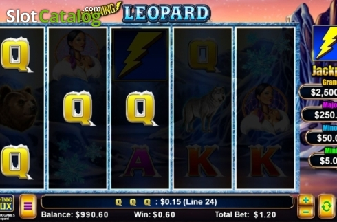 Win Screen. Lightning Leopard (Video Slot from Lightning Box)