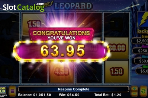 Total Win. Lightning Leopard (Video Slot from Lightning Box)
