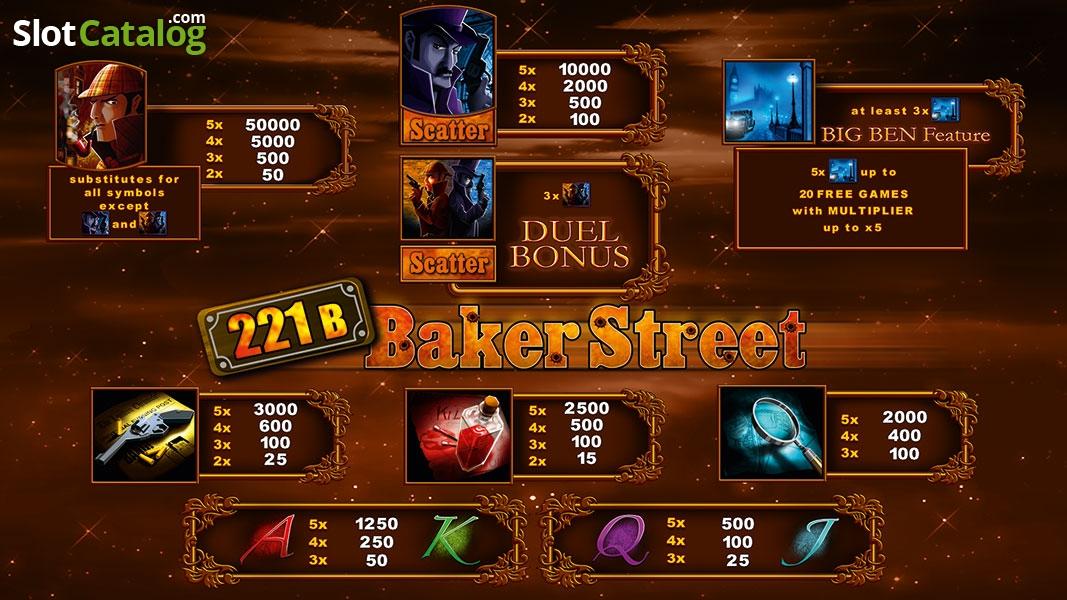Spiele 221B Baker Street - Video Slots Online
