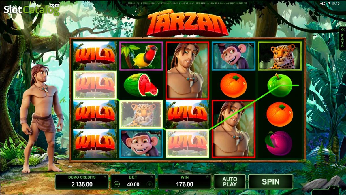 Tarzan Slot Machine - Spela Microgaming slots gratis