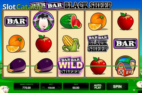 Screen10. Bar Bar Black Sheep (Video Slot from Microgaming)