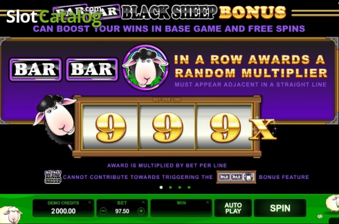 Screen3. Bar Bar Black Sheep (Video Slot from Microgaming)