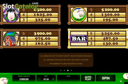 Screen5. Bar Bar Black Sheep (Video Slot from Microgaming)