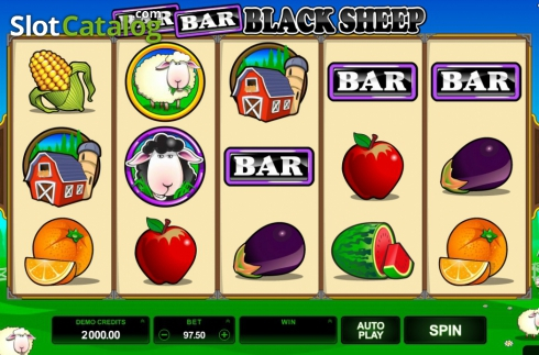 Screen7. Bar Bar Black Sheep (Video Slot from Microgaming)