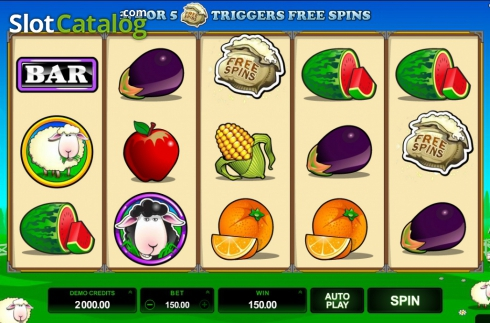 Screen8. Bar Bar Black Sheep (Video Slot from Microgaming)