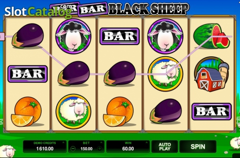 Screen9. Bar Bar Black Sheep (Video Slot from Microgaming)