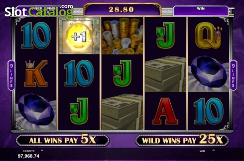Free Spins 2. Break Da Bank Again Respin (Video Slot from Gameburger Studios)