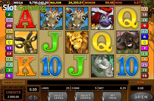 Ecran5. Mega Moolah (Slot video din Microgaming)