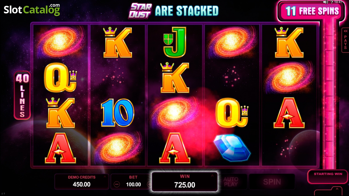 Star Dust Slot by Microgaming - Review & Free Play Game