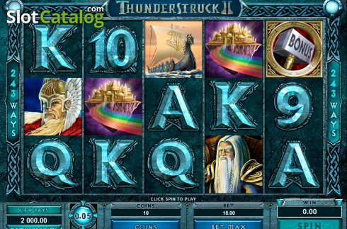 Ecran7. Thunderstruck II (Slot video din Microgaming)