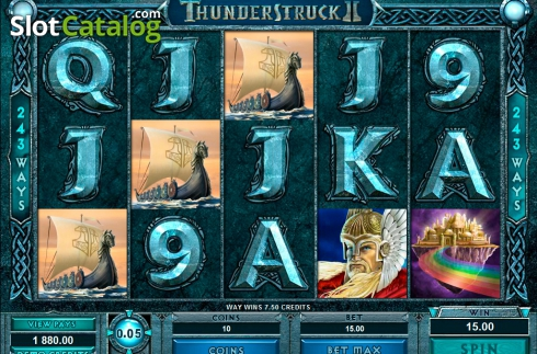 Ecran8. Thunderstruck II (Slot video din Microgaming)
