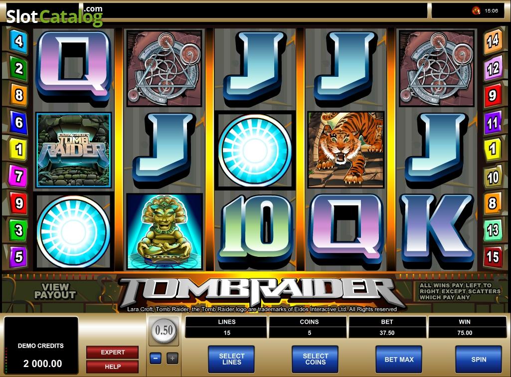 tomb raider slot machine game