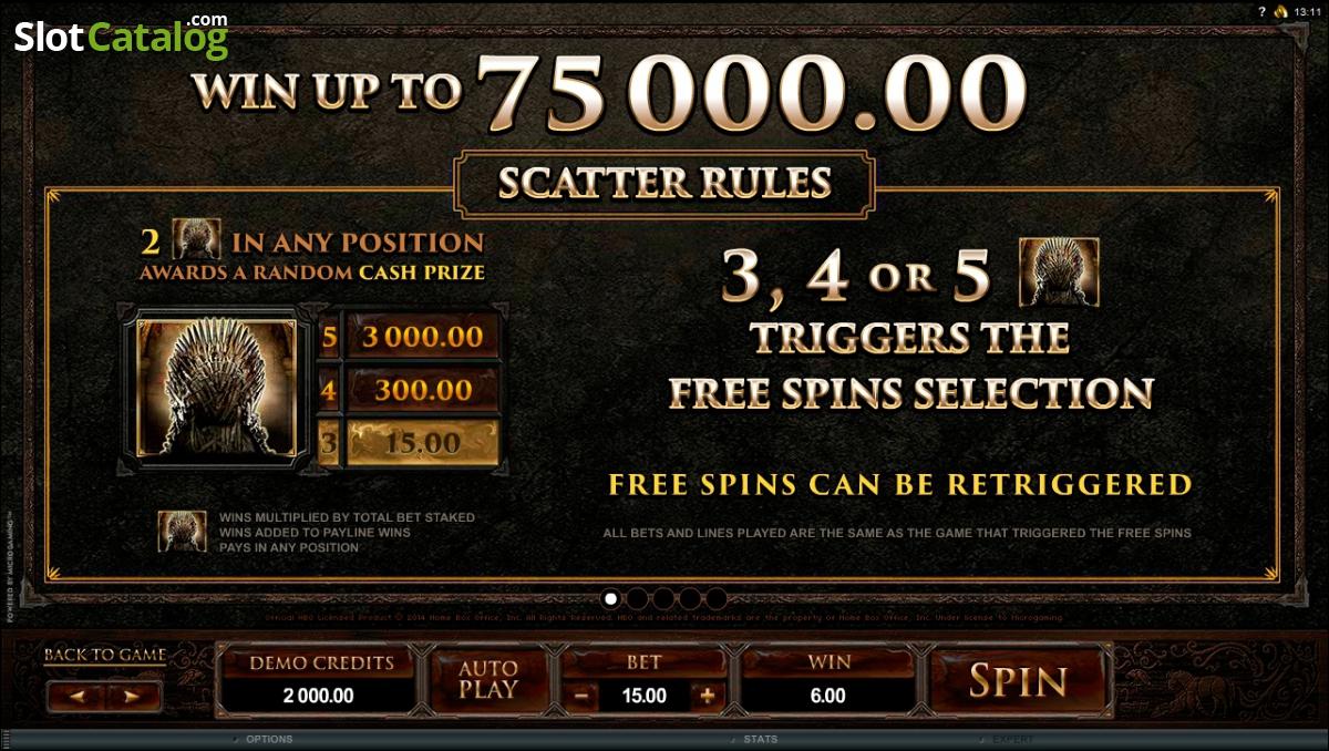 Game of Thrones 15 Lines Slot - MicroGaming Casinos - Rizk.de Casino