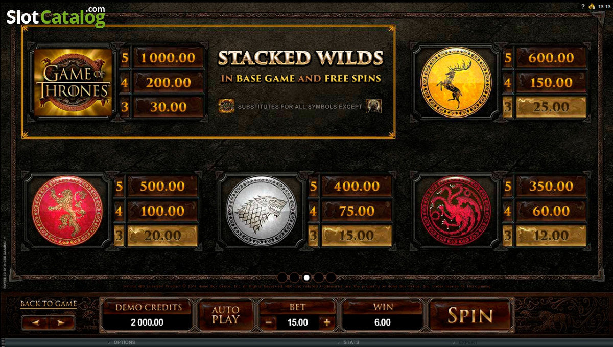 Game of Thrones 15 Lines Slot - MicroGaming Casinos - Rizk.de Casino